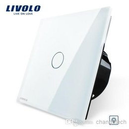 Wholesale Glass Crystal Panels - Free Shipping, Livolo EU Standard Dimmer Switch, White Crystal Glass Panel, Wall Light Touch Dimmer Switch, VL-C701D-11