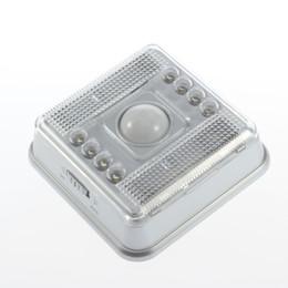 Wholesale motion detectors lights - L0803SER PIR Emengency Warm White 3W Motion Sensor Light wireless infrared 8 Led Lighting Lamp PIR Auto Sensor Motion Detector led lighting