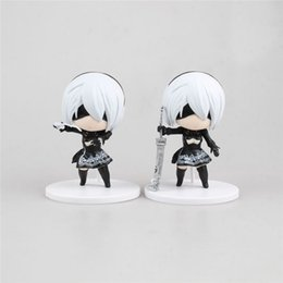 Wholesale Q Models - LilyToyFirm 10CM Q version PS4 Game Anime Figure NieR Automata YoRHa No. 2 Type B 2B Cartoon Toy Action Figure Model Doll Gift