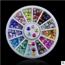 Wholesale Good Nail Drills - wholesale New arrival freeshipping Nail good color diamond box tip drill 12 color acrylic nail drill disc diamond tray high quality hot sell