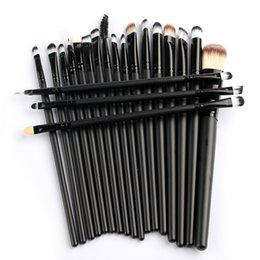 Wholesale Pro Make Up - Pro 20pcs Set Make Up Styling Tools Cosmetic Eyeliner Eyebrow Lipsticks Shadow Wood Pincel Makeup Blushes Kit Cosmetics Pinceaux