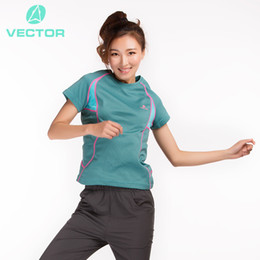 Wholesale Sun Protection Shirt Women S - Wholesale-2016 Women's Hiking T-shirt Short Sleeve Quick Dry Impermeable Sun Protection Coolmax Outdoor Tactical Shirt Summer Sport Tee
