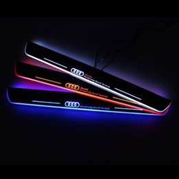 Wholesale Door Pedal - Styling for A4L S4 RS4 2013-2015 A style Sline Style Car Styling LED pedal light pathway light Moving Door Scuff Door Sill Plate Cover Side
