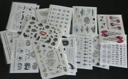 Wholesale Body Paint Designs - 100Pcs Wholesale 9.5*14.5cmTemporary tattoo stickers - for Body art Painting - mixed designs Temporary Tattoos