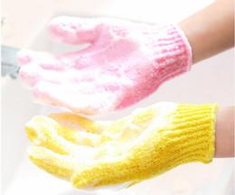 Wholesale Wholesale Glove Scrubs - scrub bath glove Five fingers Bath Gloves hammam scrub mitt magic glove exfoliating a lot of color