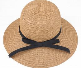 Cappelli di paglia larghi del bordo del cappello del sole del cappello delle  donne di estate di trasporto 2016 protezione femminile di jazz delle  copricapi ... ba7a4b373a15