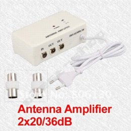 Wholesale Tv Signal Splitter Amplifier - FM TV Amplified Aerial Antenna DVB-T Signal Amplifier Booster Splitter TV ANTENNA antenna booster tv