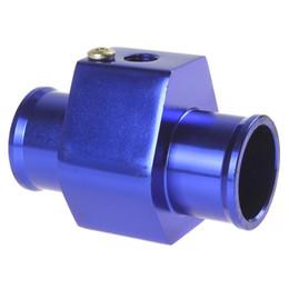 "Wholesale Digital Gauges For Cars - Aluminium 28mm 30mm 32mm 34mm 36mm 38mm Three-way( Tee ) Valve Adapter For 1 8"" NPT Car Water Temperature Temp Sensor Digital Gauge meter"