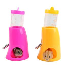 Wholesale Dispenser Bottle Holder - 2 in 1 Hamster Water Bottle Holder Small Pet Dispenser Hut Nest Water Feeder