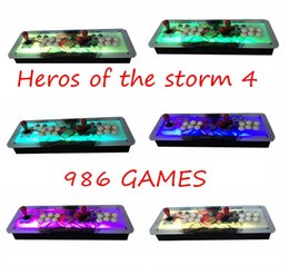 Wholesale Connect Computers - Heros of the Storm 4 arcade consoles ,986 programs,HDMI VGA out,Joystick console connected to computer,Add pause and exit.