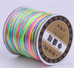 Wholesale Multi Shamballa Bracelet - t6332 Good 150M 160yards lot multi color Chinese Knot String Nylon Cord Rope for Shamballa Bracelet