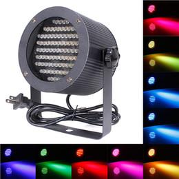 Wholesale Dmx Color Changing Lights - Professional 86 LEDs RGB Stage Light 25W Disco Party DJ Ball DMX-512 Laser Projector 4 Channel Lighting DJ Party Disco PUB Club LIF_224