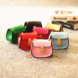 Wholesale Simple Korean Girls - New Baby Bags Korean Simple Design handbags Chain Mini Kids Messenger Bag Fashion Girls Single-shoulder Bags C2348