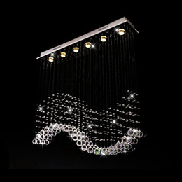 Wholesale Rectangle Light Fixture - VALLKIN Rectangle LED Crystal Chandeliers Lights Hanging Lighting Lamp Fixtures For Ding Room AC110 to 240V K9 Crystal Lamps