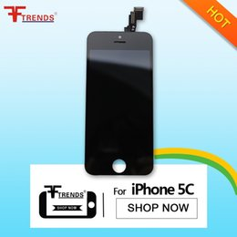 Wholesale Promotion Test - Promotion for iPhone 5C LCD Display & Touch Screen Digitizer Full Assembly OEM LCD Screen Black 100% Test Free Shipping AA0014