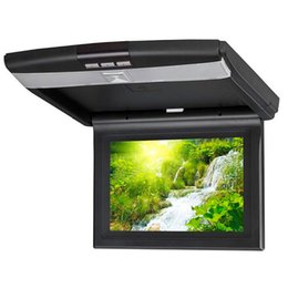 Wholesale Vcd Video Player - Car Video 9 Inch TFT LCD Display Super Slim HD Car Roof Mount Monitor Bult-in DVD Player with remote control Flip Down Car Monitor Player