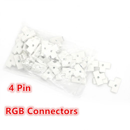 "Wholesale Led Strip T Connector - LED RGB Connector Strip 4Pin 10mm ""T"" type Connector 90 Degrees for 5050 3528 2835 SMD Strip No Soldering"