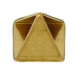 "Wholesale Brass Headband - Copper Charm Earrings Cone Brass Tone 8.0mm( 3 8"") x 8.0mm( 3 8""), 4 PCs 2015 new"