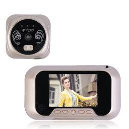 Wholesale Digital Camera Photograph - LCD Digital Ring Monitor Door Peephole Viewer Camera Cam Photograph Doorbell Home Security Door Bell Eye Support 32G Memory Card
