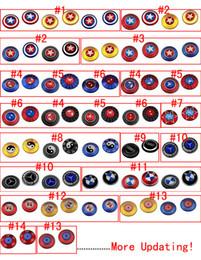 Wholesale Bmw Hand - Rainbow Captain America Fidget Spinner 13 models Colorful EDC Gyro Toys Bat BMW Mercedes-Benz Hand Spinner Aluminum Via DHL