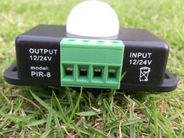 2019 fita led rohs 12 V 24 V Mini Detector de Sensor de Movimento PIR Interruptor para Fita LED Fita de Luz de Detecção de Infravermelho 6A 12 Volt 24 Volt Indução de Alcance 8 m 300 pçs / lote desconto fita led rohs
