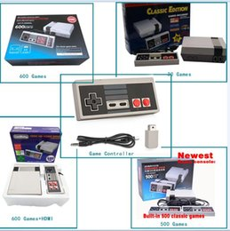 Wholesale Wholesalers Game Console System - Gift Classic Game TV Video Handheld Game Console Entertainment System Built-in 30 600 500 620 Classic Games for NES mini Game