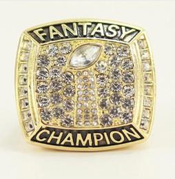 Wholesale Fantasy Rings - Champions ring, 2017 Fantasy Football League Championship ring, football fans ring, men women gift ring