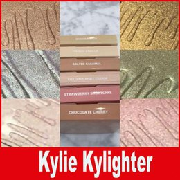 Wholesale Glowing Face Cream - Kylighter Kylie Cosmetics Highlighter Bronzers BANANA SPLIT & FRENCH VANILLA & COTTON CANDY CREAM & STRAWBERRY SHORTCAK Face Glow