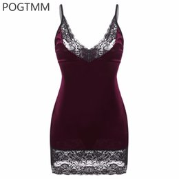 Wholesale Women Lingerie Nighty Sleepwear Underwear - Lingerie Sexy Erotic Hot Sex Costume Satin Babydoll Dress Women Floral Lace Mini Night Sleepwear Nightwear Porn Underwear Nighty