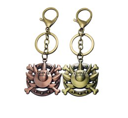 Wholesale One Piece Key Ring - Japan cartoon Movie One Piece key rings cartoon key chains pendant car keyring bag accessory cool gifts