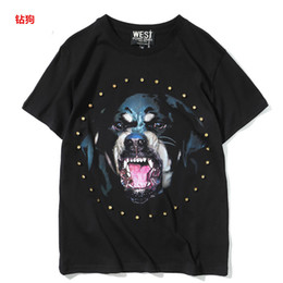 Wholesale Army Dog Shirt - 2017 With Brand Tag and Label Famous Luxury Brand High Quality new fashion Rottweiler dog tee t shirts for men women cotton