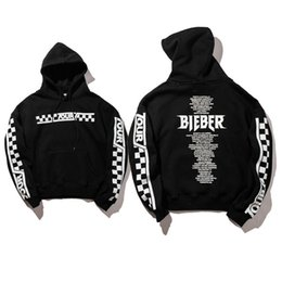Wholesale justin bieber hot - 2018 Hot Brand Clothing Justin Bieber Stadium Hoodies Men Women High Quality Purpose Tour Sweatshirts Hoodies Purpose Tour