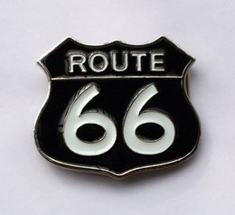 Wholesale Cars Route - Black Route 66 Belt Buckle SW-BY364 suitable for 4cm wideth belt with continous stock free shipping