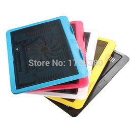 Wholesale Notebook Cooling Pad Price - New Fashion Multicolor Ultra Thin LED 140mm Big Cooling Fan Laptop Notebook Cooler Mat Stand Cooler Pad top quality best price
