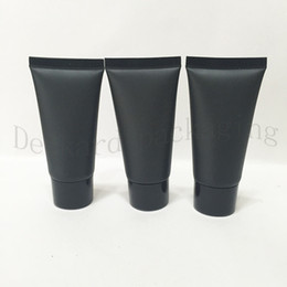 Wholesale lotion sample packaging - 150pcs Empty Black Soft Tube For Cosmetics Packaging,Sample 30ML Lotion Cream Plastic Bottles,Unguent Containers Tube squeeze