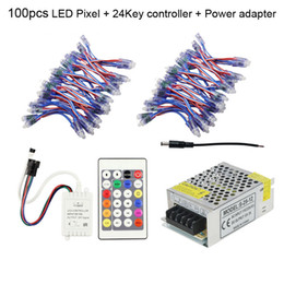 Wholesale Dream Controller - Xmas Lights 12mm WS2811 LED Pixel Light DC 5V Waterproof Module Lampara Dream Color + 24 Keys Remote Controller + Power Supply Adapter CE