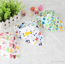 Wholesale Rice Hats - Baby cotton bibs Burp Cloths children scarves rice towels three towels waterproof scarves newborn baby hat scarf variety Two us of wholesale