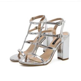 38372b7c7 Rome T Strappy Platform Tacones altos Oro Plata Bombas Mujer Zapatos de boda  Tamaño 35 a 40 talones de plata de la boda strappy baratos