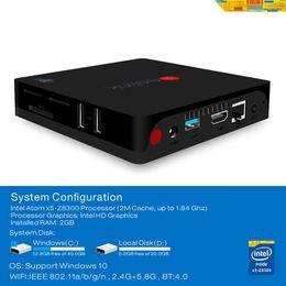 Wholesale Mini Pc Ddr3 - Beelink Intel BT3 Support Windows10 Intel Atom x5 Z8300 Processor (2M Cache, up to 1.84 GHz) DDR3 2GB 1000Mbps LAN mini pc