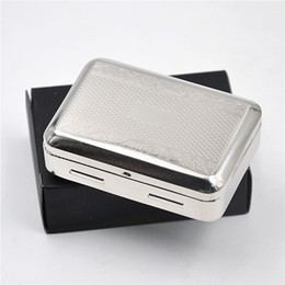 Wholesale Double King - 1 X High Quality Victorian Style Classic Metal Silver Color Double Sided King Cigarette Case Holder we can customize your logo