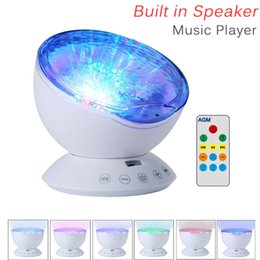 Wholesale Aurora Led - Romantic Colorful Aurora Sky Holiday Gift Cosmos Sky Master Projector LED Starry Night Light Lamp Ocean Wave Projector