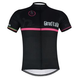 Wholesale Italia Cycle Jersey - Tour De Italy D\'ITALIA Black Cycling Jersey Mtb Bicycle Clothing Bike Clothes Short Sleeve Maillot Ropa Ciclismo Sportswear Spain C2801