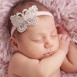 10PCS Lace Butterfly Infant Baby Headbands Lovely Girl Hairband Headwear  Kids Baby Photography Props NewBorn Baby Hair bands Accessories ea395191bc88