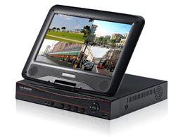 Гибридный dvr nvr онлайн-Видеорегистратор AHD Гибридный видеорегистратор 10-дюймовый монитор 8CH DVR XM облачная технология AHD / DVR / NVR / HVR 4 в 1 рекордер