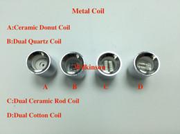 Wholesale Globe Vases - Wax Metal Coil ceramic donut coil dual quartz ceramic cotton coil replacment Core for vase cannon bowling atomizer glass globe atomizer