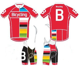 Wholesale Mountains Cycle Jersey - Bicycling team Summmer cycling jersey and bib shorts Maillot ciclismo,Mountain Bike Short Sleeve Kits, Bicicleta Clothing
