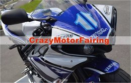 Wholesale Yamaha R1 White Body Kit - 3 Free Gifts New ABS Injection High quality Fairing Kit 100% Fit For YAMAHA YZF1000 R1 YZF-R1 2009 2010 2011 09 10 11 Body set blue white