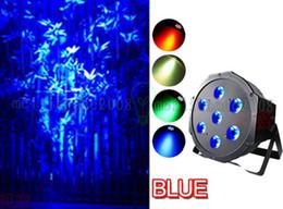 Wholesale Hot Led Dj - NEW Hot 7x 9W RGB DMX Stage Lights Business Lights Led Flat Par High Power Light with Professional for Party Disco DJ EU US MYY