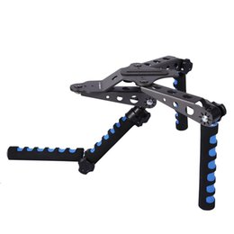 Wholesale Movies Kit - Aluminium Alloy Foldable DSLR Rig Movie Kit Film Making System Shoulder Mount Support Rig Stabilizer for Digital SLR Cameras and Camcorders