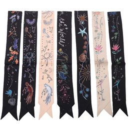 Wholesale Scarf Kerchiefs - Tarot Silk Twilly Women Twillies for handbags luxury brand Handle Scarf Hat ribbon Headband Kerchief Scarves Headtie 100*6cm
